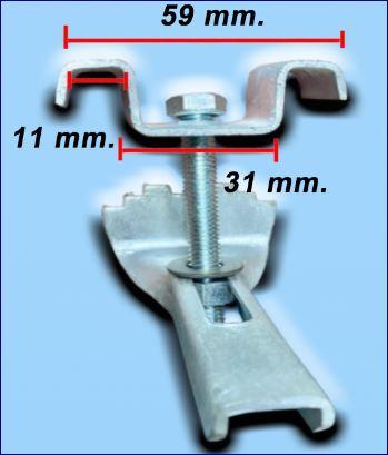 คลิปล็อคยึดจับแผ่นตะแกรงเหล็ก Saddle Fixing Clip Clamp Lock Fastener