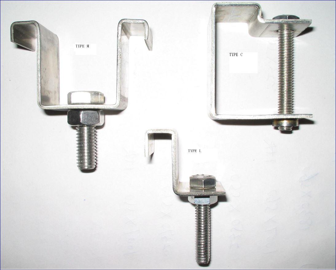 StainlessSteel Grating clip lock คลิปล็อคยึดจับแผ่นตะแกรงเหล็ก Saddle Fastener