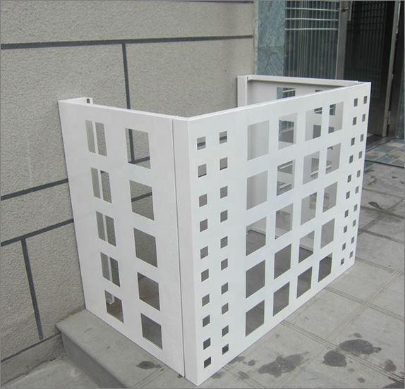 Air compressor Outdoor  decorative Screen cover  แผ่นเหล็กฉลุลายเลเซอร์ตกแต่ง  แผ่นปิดตู้คอมเพรสเซอร์แอร์ด้านนอกอาคาร