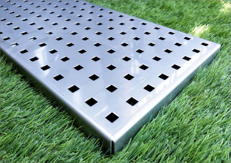 ฝาบ่อพักแผ่นพื้นคอนกรีตสำเร็จรูประบายน้ำ Stainless Aluminium Expanded Metal Grating