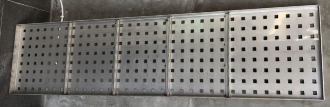 ฝาบ่อพักแผ่นตะแกรงสแตนเลสสำเร็จรูประบายน้ำ Stainless Aluminium Expanded Metal Grating