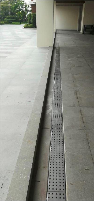 Bathroom Linear Shower Linear Floor Drainage Stainless Grating ฝาปิดบ่อครอบท่อพักตะแกรงสแตนเลสเกรตติ้งระบายน้ำ