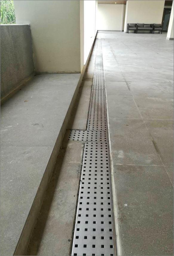 ฝาปิดบ่อครอบท่อพักตะแกรงสแตนเลสเกรตติ้งระบายน้ำ Bathroom Shower Floor Drainage Stainless Grating