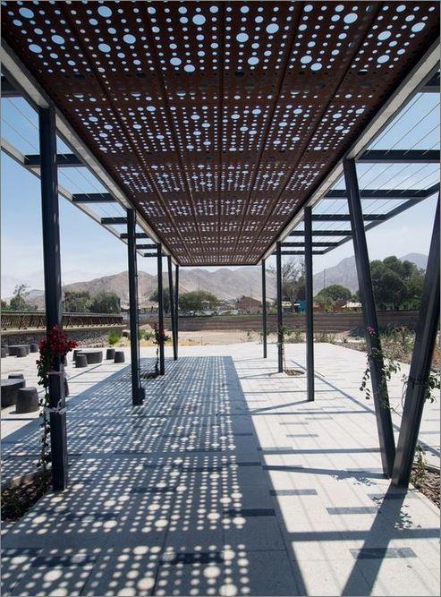 CEILING Roof Pergola Battens Lattice Design Laser Cutting Panel  แผ่นเหล็กฉลุลายเลเซอร์ตกแต่ง สำหรับตกแต่งฝ้าเพดานกันสาด ระแนงบังแดด