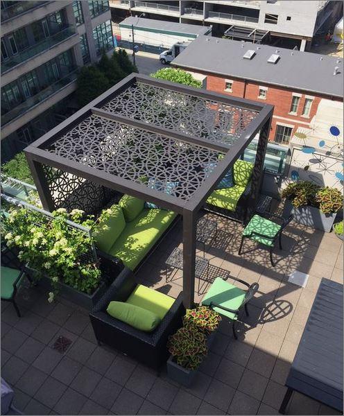 CEILING Roof Pergola Battens Lattice Design Laser cnc Metal  แผ่นเหล็กฉลุลายเลเซอร์  ตกแต่งฝ้าเพดานกันสาด ระแนงบังแดด