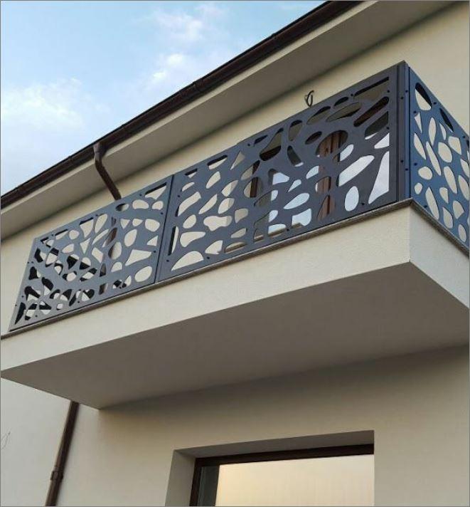 Decorative Terrace balcony Veranda grill Laser cnc Metal แผ่นเหล็กฉลุลายเลเซอร์ตกแต่ง  แผ่นรั้วราวกันตกบริเวณระเบียง เฉลียงหน้าต่างประตูทางเดิน