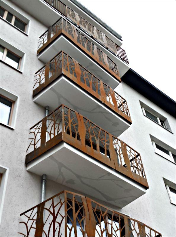 Decorative grill Terrace balcony Veranda Laser cnc Metal แผ่นเหล็กฉลุลายเลเซอร์ตกแต่ง  แผ่นรั้วราวกันตกบริเวณระเบียง เฉลียงหน้าต่างประตูทางเดิน