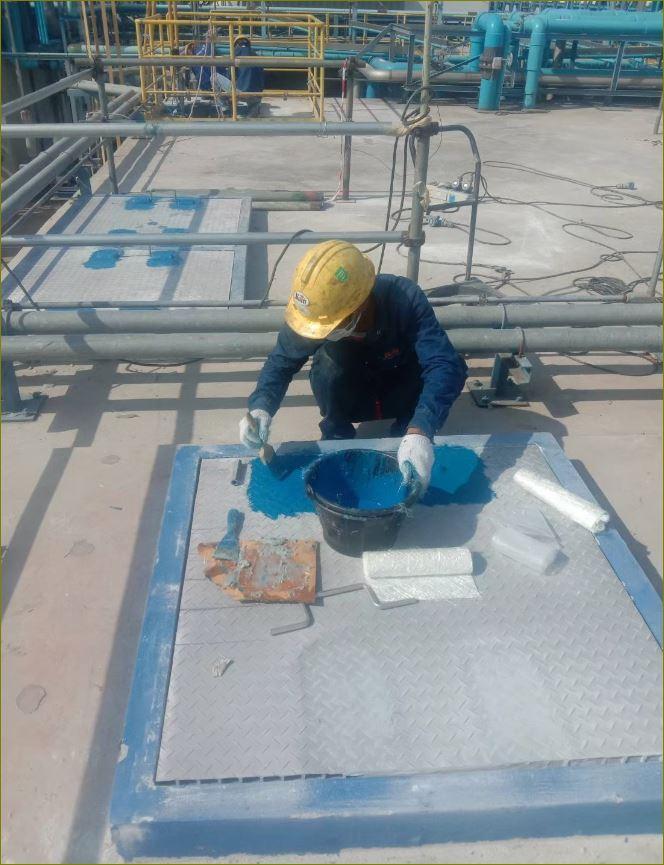 FRP Fibreglass anti-skid grating  ฝาปิดบ่อท่อพักไฟเบอร์กล๊าสเกรตติ้งตะแกรงระบายน้ำ