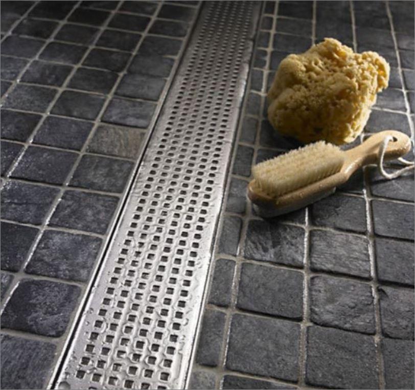 แผ่นตะแกรงแสตนเลสเจาะรูสำหรับห้องน้ำ   Linear Luxury bathroom Stainless Grating