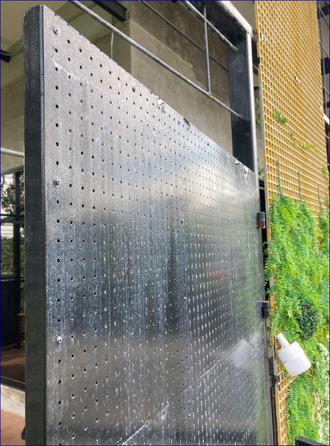 แผ่นโลหะฉลุลายตกแต่งเลเซอร์  แผ่นบานประตูหน้าบ้าน หน้าต่างสำนักงานโรงแรม  CNC Laser Cut Security Front Home Door