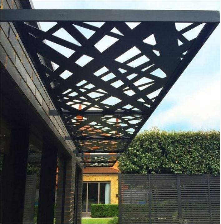 CEILING Roof Battens Laser Cutting Metal Sheet แผ่นเหล็กฉลุลายเลเซอร์ตกแต่ง สำหรับตกแต่งฝ้าเพดานกันสาด ระแนงบังแดด
