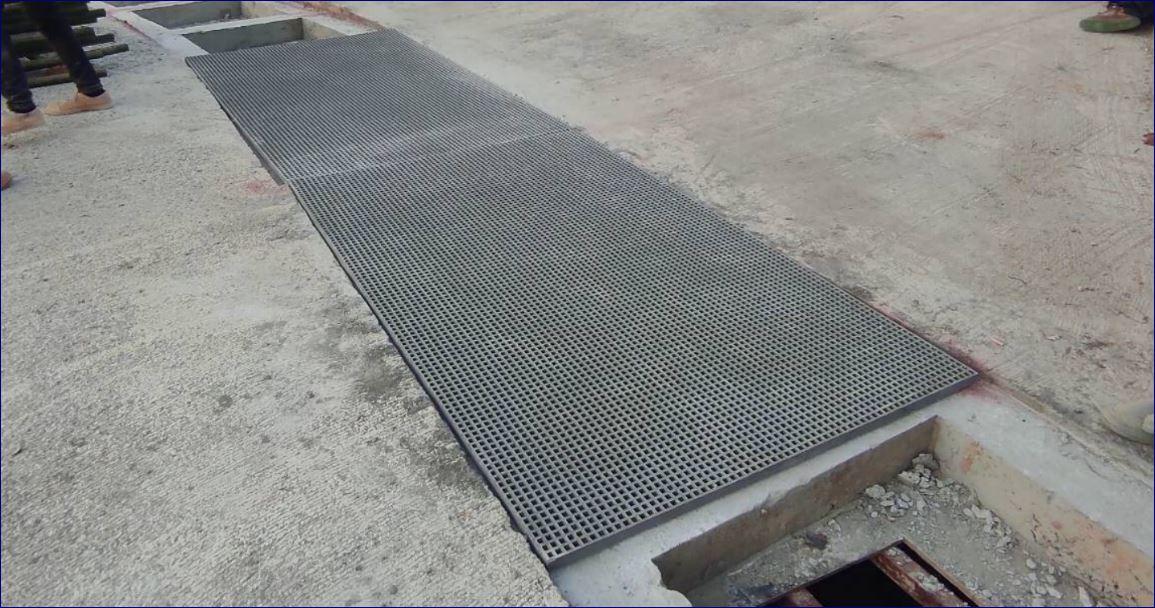 FRP Fiberglass Grating Manhole Cover ฝาตะแกรงระบายน้ำไฟเบอร์กล๊าส สำเร็จรูป สั่งตัดตามขนาด