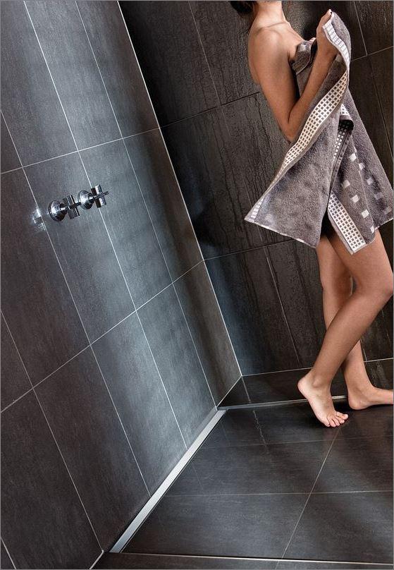 แผ่นเกรตติ้งเจาะรู รางระบายน้ำ สั่งทำปั๊มเจาะพับขึ้นรูปเป็นลวดลายแบบพิเศษ   Smart Modern Stainless Linear Shower Floor Drainage Grating
