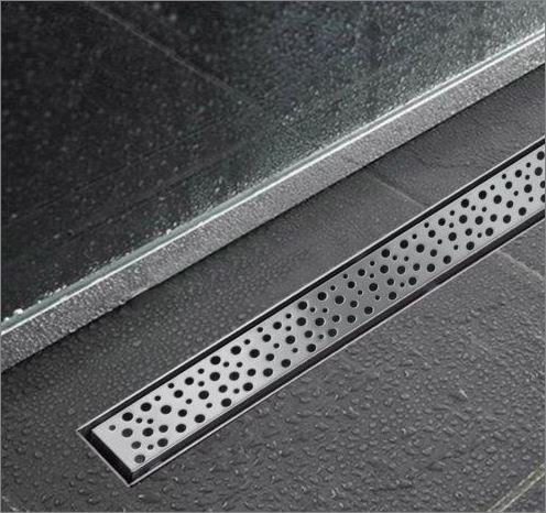 ตะแกรงสแตนเลส อลูมิเนียม เหล็กแผ่นเจาะรู Aluminium Stainless Grating Linear Shower Grating