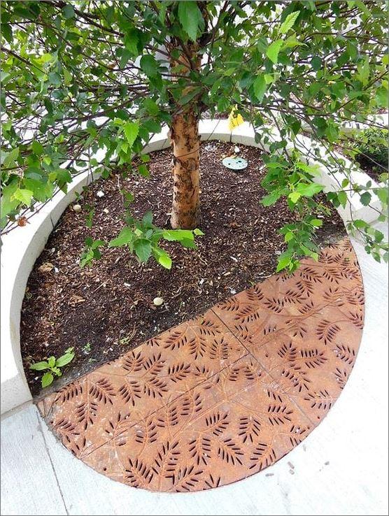 Tree Guard Grating Frame Cover Laser Cutting Metal Sheet Panel กรอบตะแกรงปกป้องรอบโคนต้นไม้