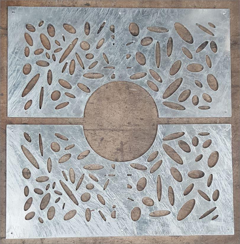กรอบตะแกรงปกป้องรอบโคนต้นไม้ Tree Guard Grating Cover Laser Cutting Metal Sheet Panel