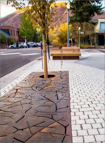 Tree Guard Grating  cnc Laser Metal Sheet Panel กรอบตะแกรงปกป้องรอบโคนต้นไม้