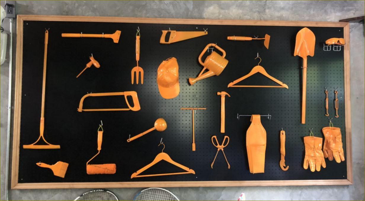 Wall Pegboard Hooks ตู้แผงที่แขวนเครื่องมือ กระดานเพ็กบอร์ด