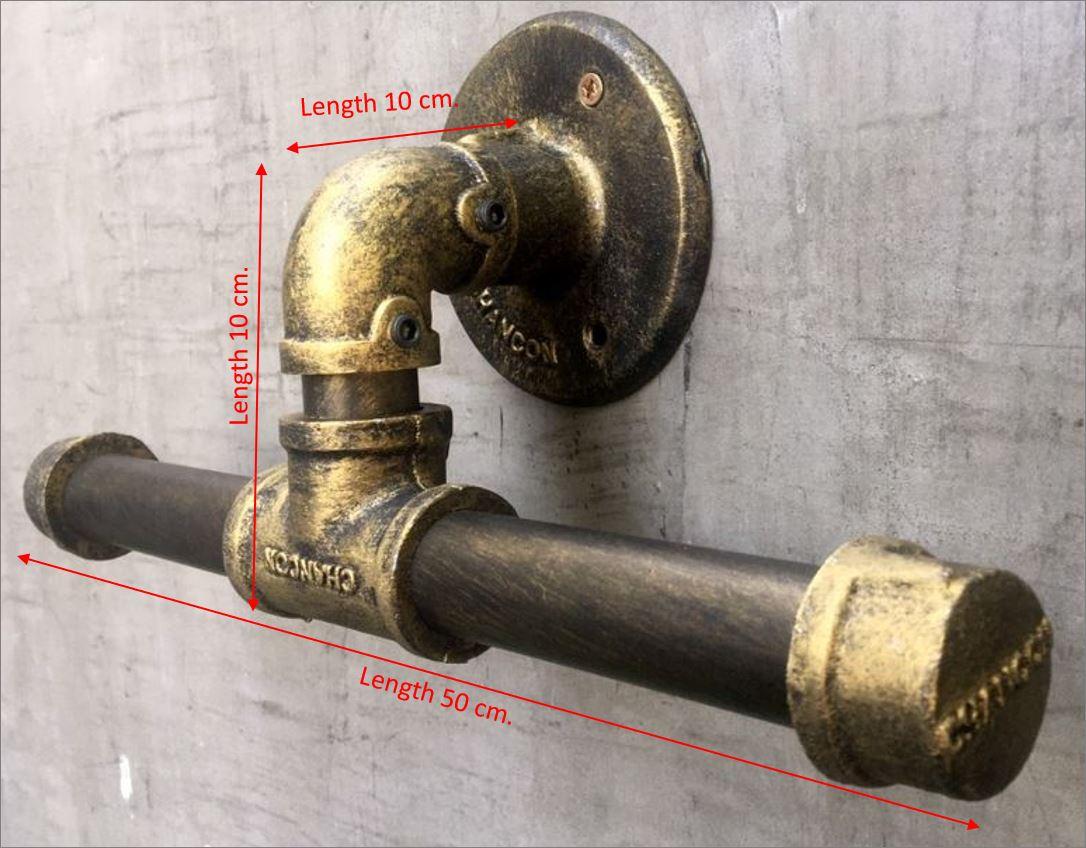 เฟอร์นิเจอร์ชั้นวางท่อเหล็ก ราวแขวน ฮุกเกี่ยวของ ฐานรองหิ้ง ฉากรับชั้น แท่นวาง มือจับประตูติดผนังตกแต่งบ้าน  LoftPipeStepDecorationWallShelvesDIYBracketCraftIndustrialDesignFurniture